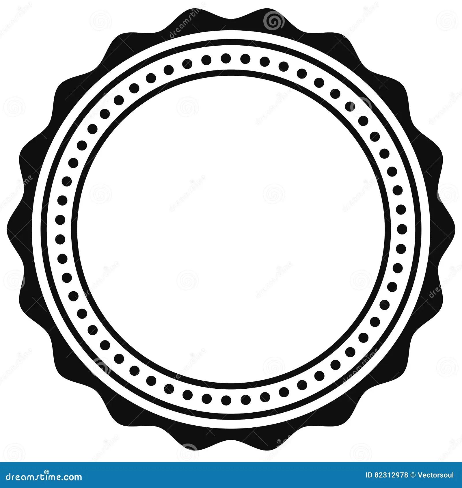 Badge Seal Element Contour Of Circular Certificate