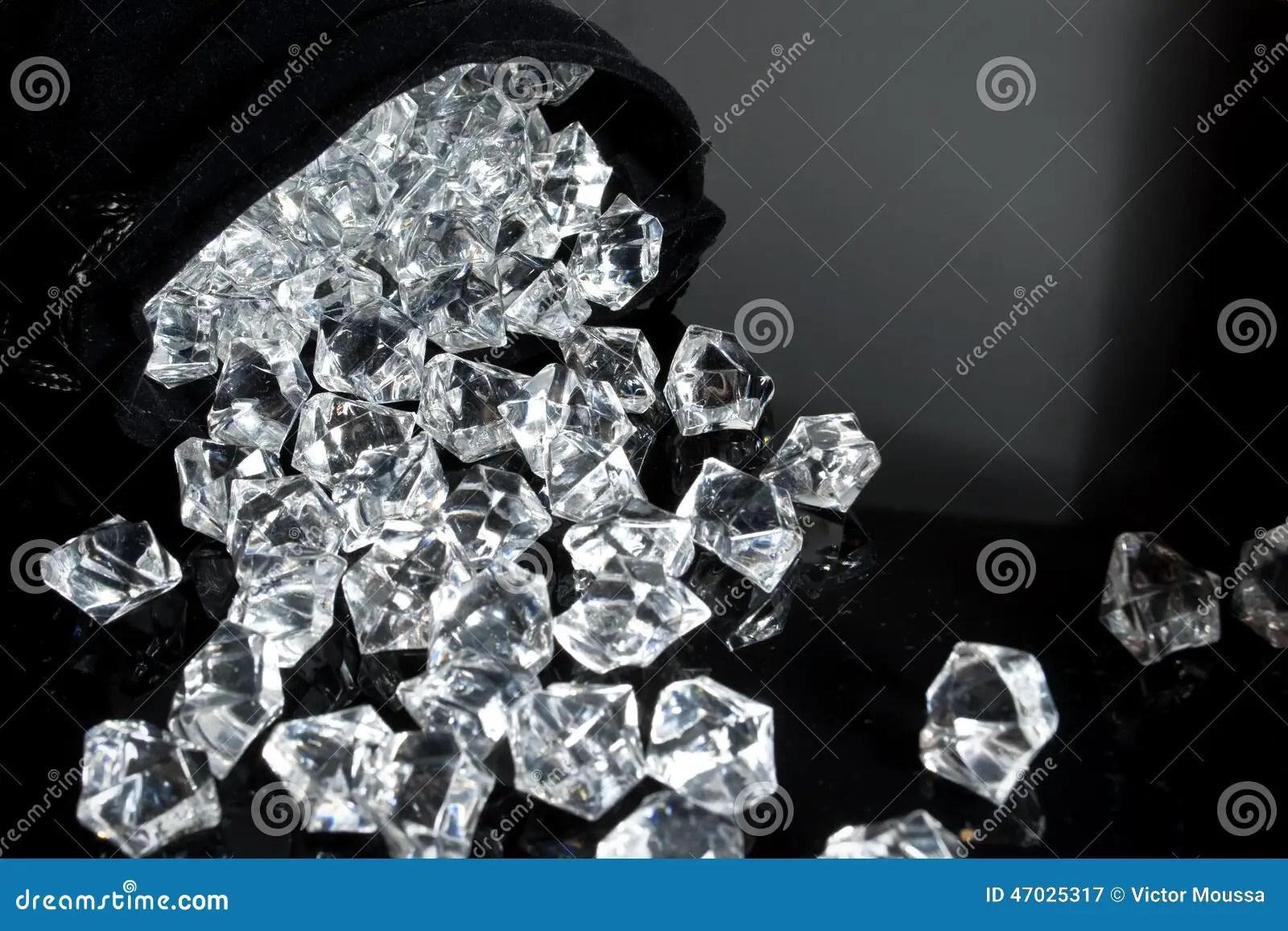 Bag Of Diamonds Stock Photo  Image 47025317