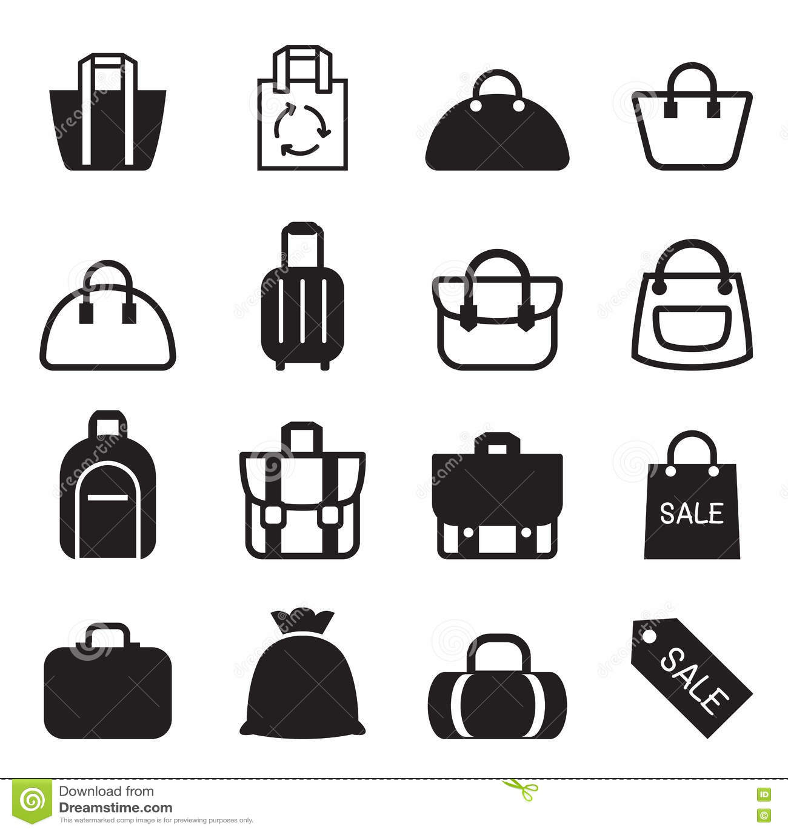 Bag Icon Stock Illustration
