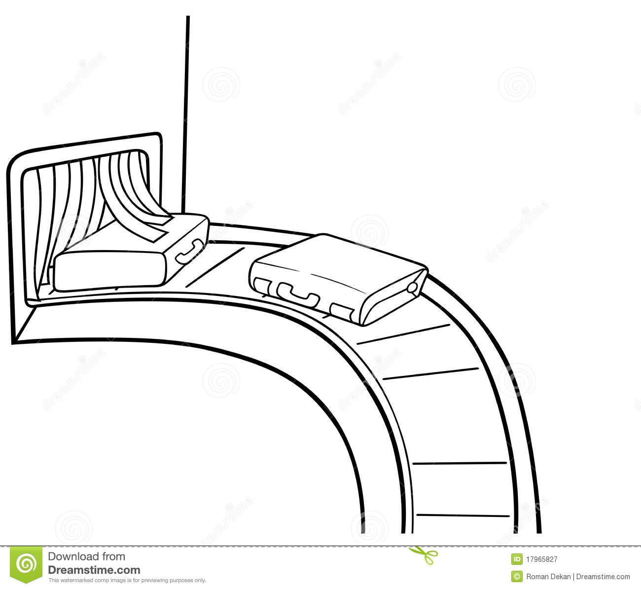 Baggage Claim Stock Vector Illustration Of Cartoons