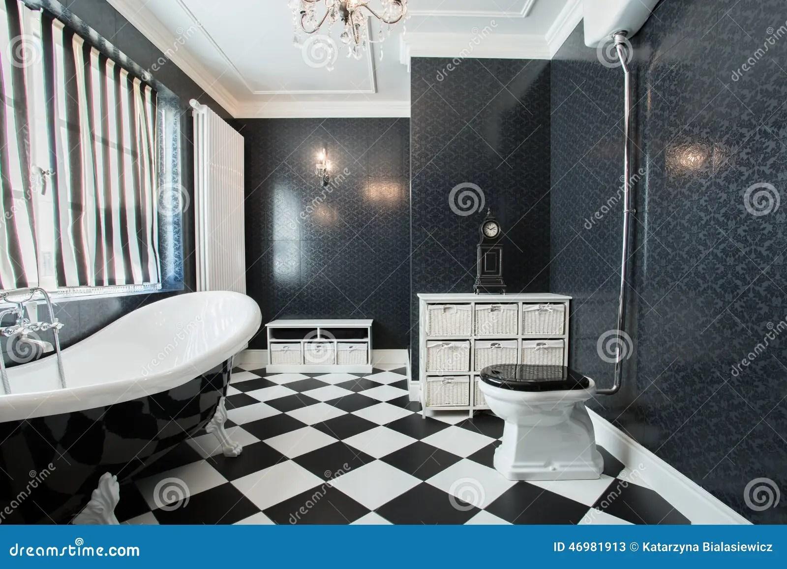Bagno bianco e nero immagine stock Immagine di nuovo  46981913