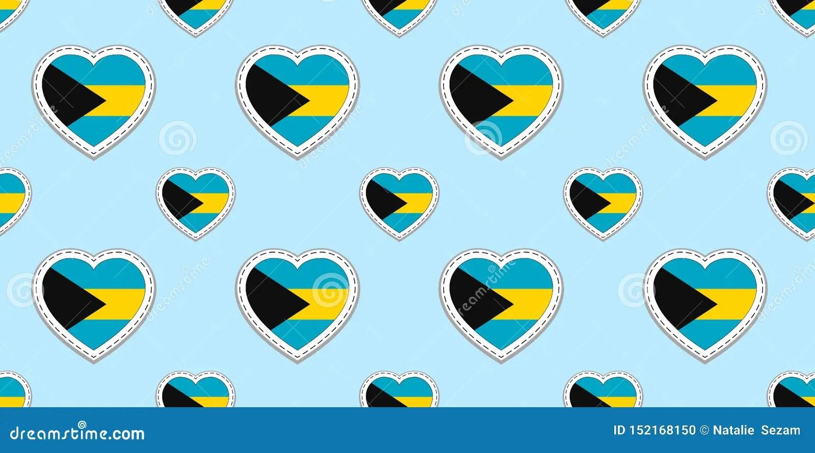 Bahamas Flags Background Bahamian Flag Seamless Pattern