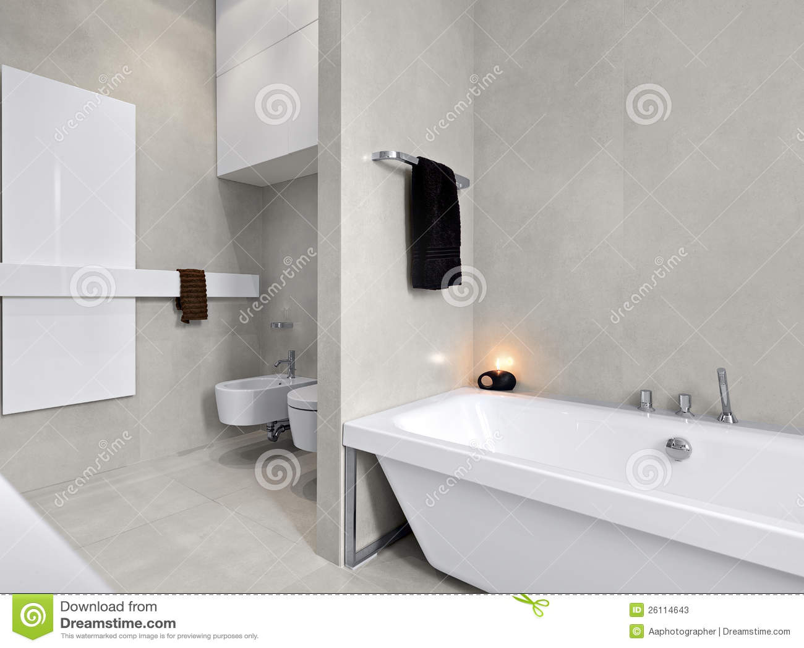 Baignoire Blanche Moderne Pour La Salle De Bains Image stock  Image du moderne luxueux 26114643