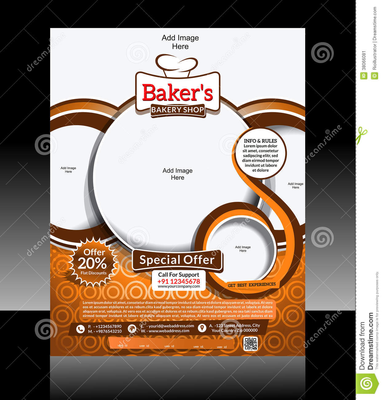 Bakery Flyer Design Stock Vector Image Of Decorative