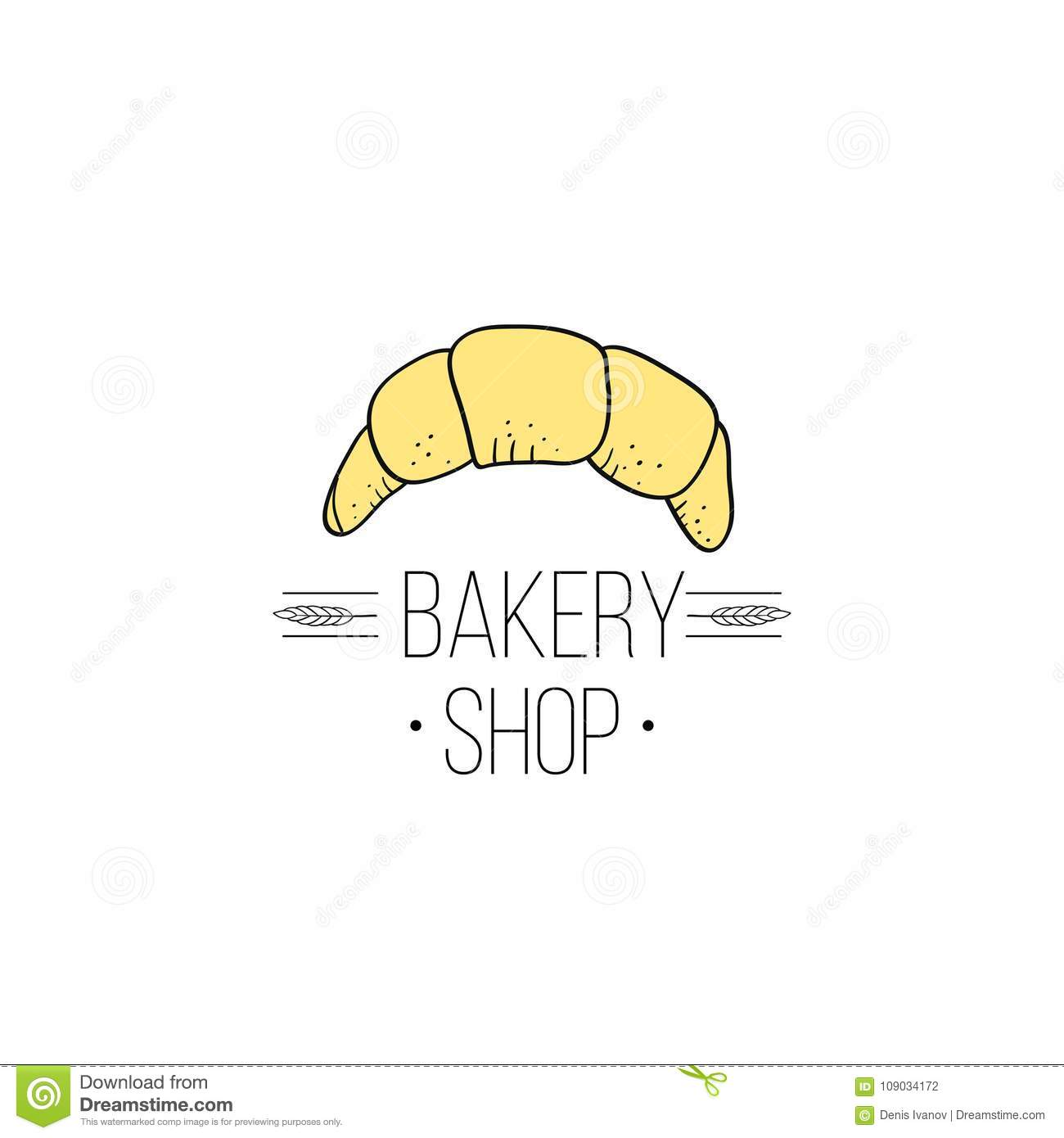 Bakery Shop Logo And Bread Logo Labels Design For Sweets Cake