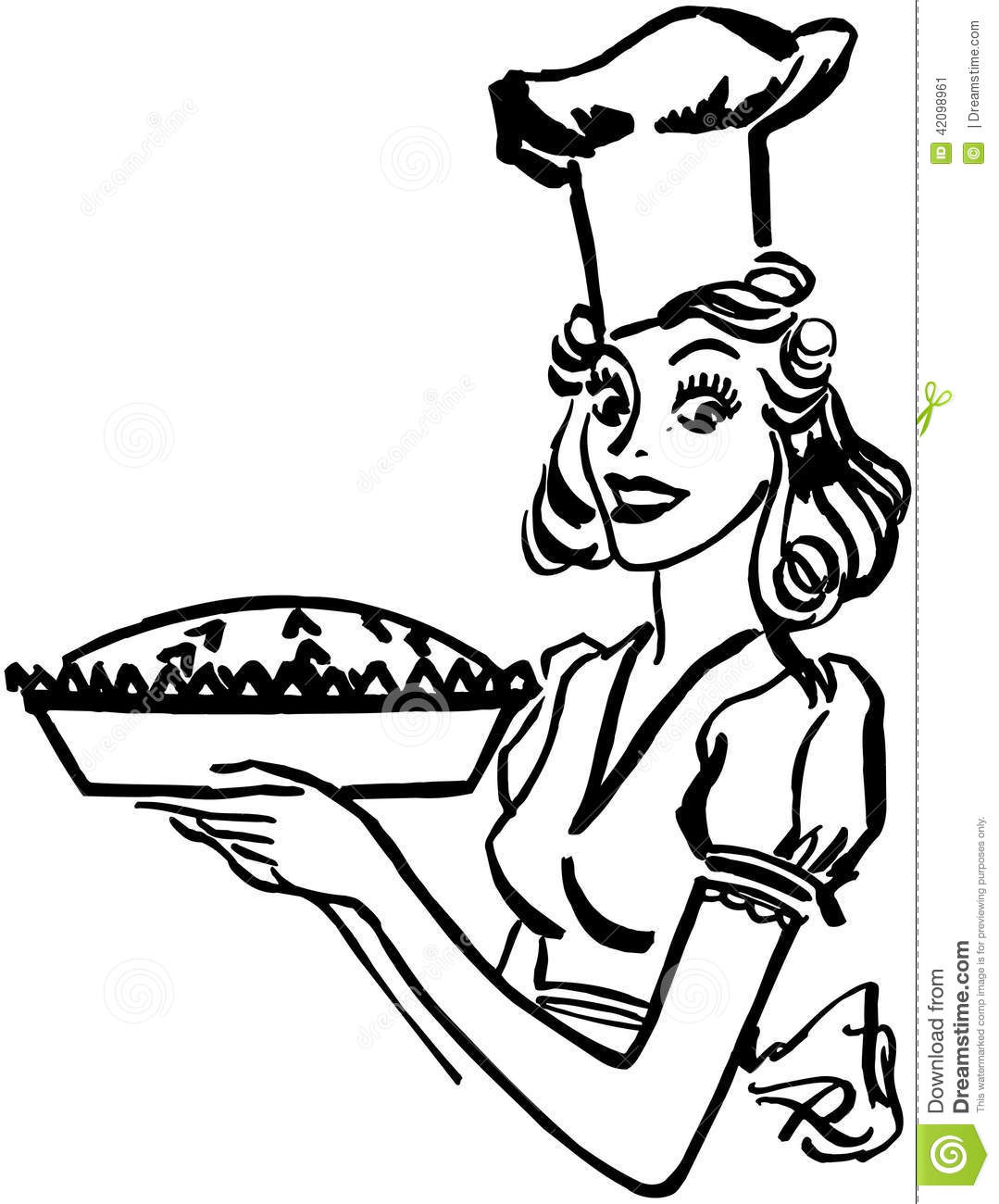 Baking Queen Stock Vector Illustration Of S Pastry