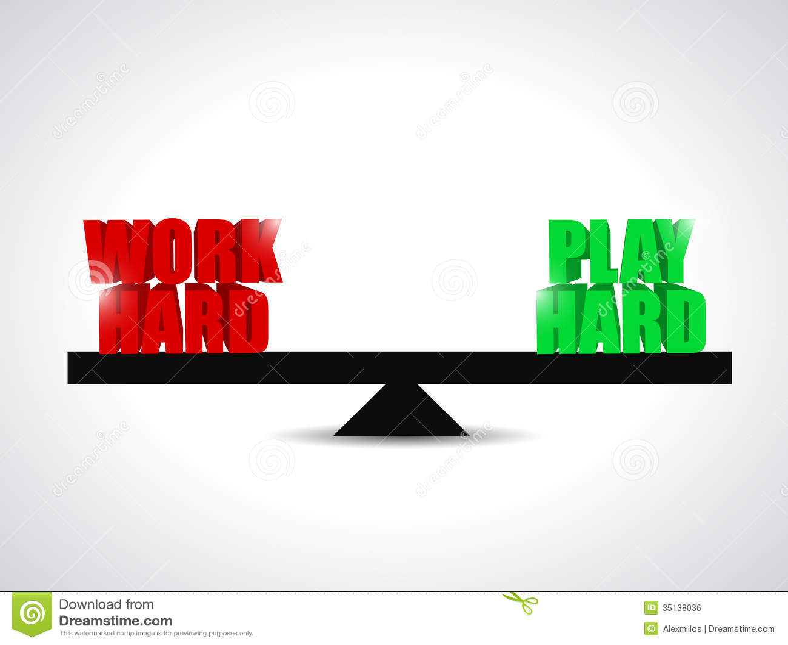 Balance Between Work Had And Play Hard Concept Royalty