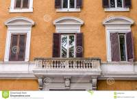 Balcony With Columns And Windows With Shutters With Marble ...
