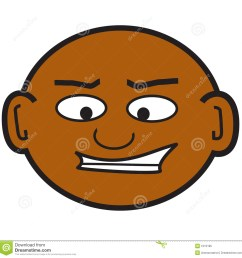 a clip art of a crazy bald guy [ 1300 x 1342 Pixel ]