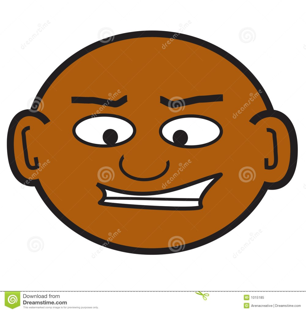 medium resolution of a clip art of a crazy bald guy