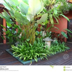 Chair Design Garden Cream Colored Accent Chairs Bali Courtyard Stock Photo. Image Of Malaysia, - 1079520