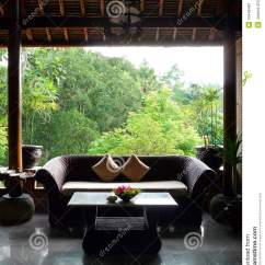 Rattan Sofa And Coffee Table Grease Stain Removal Leather Balinese Style Patio Sitting Room Royalty Free Stock ...