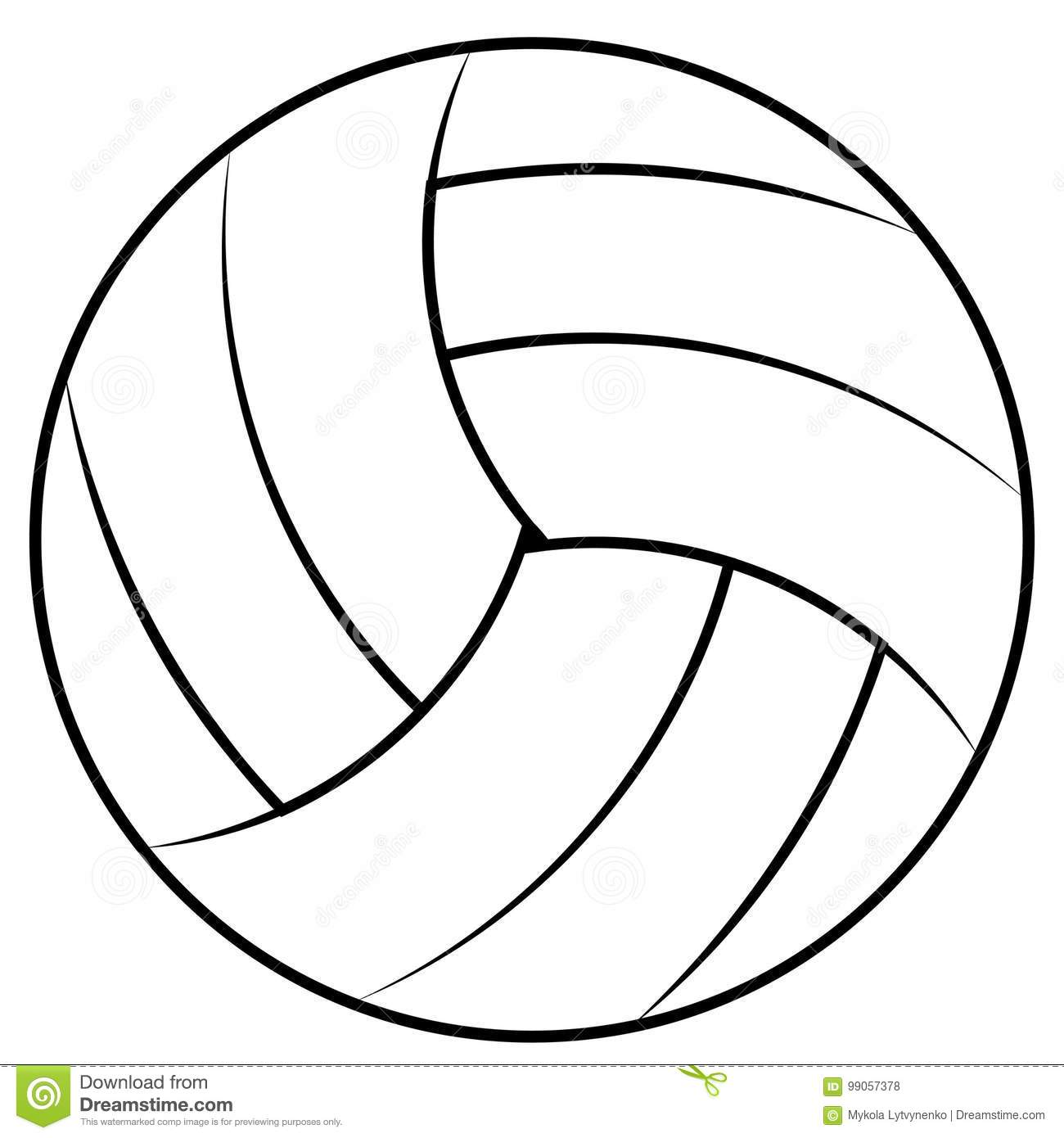 Ball For Playing Beach Volleyball Vector Volleyball Ball