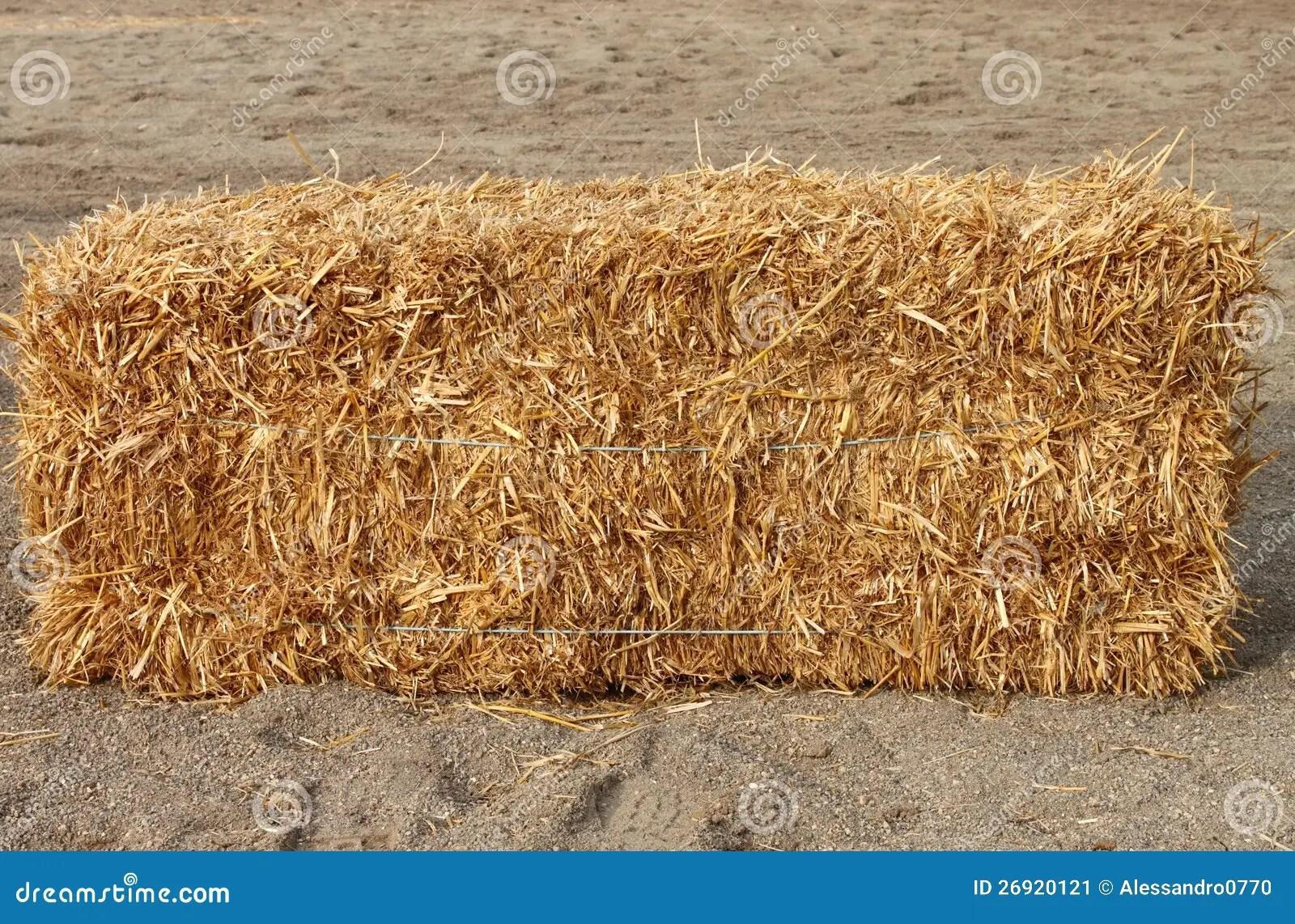 Balla di fieno quadrata immagine stock Immagine di podere