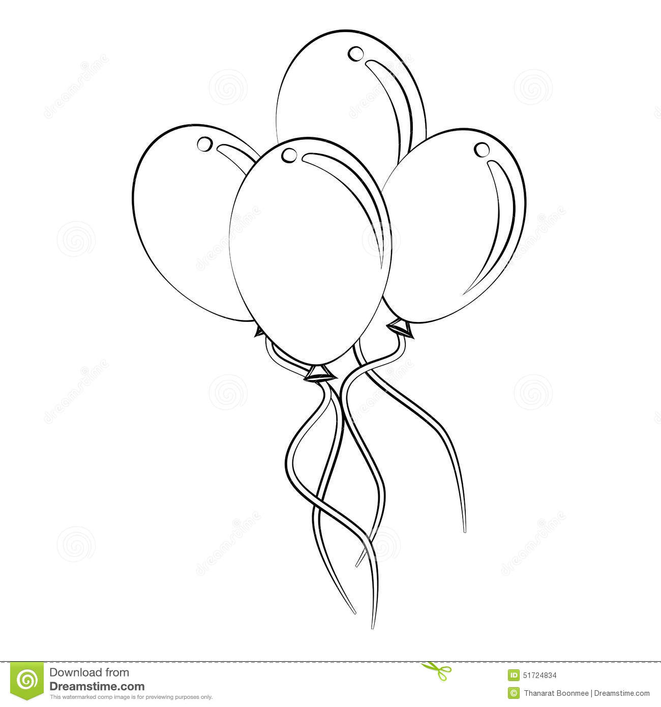 Balloon Stock Vector Illustration Of Shape Vector