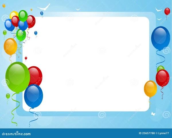 balloons blue border stock