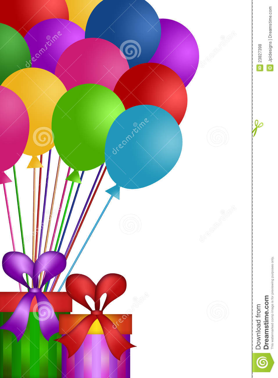 Balloons With Gift Wrapped Presents Royalty Free Stock