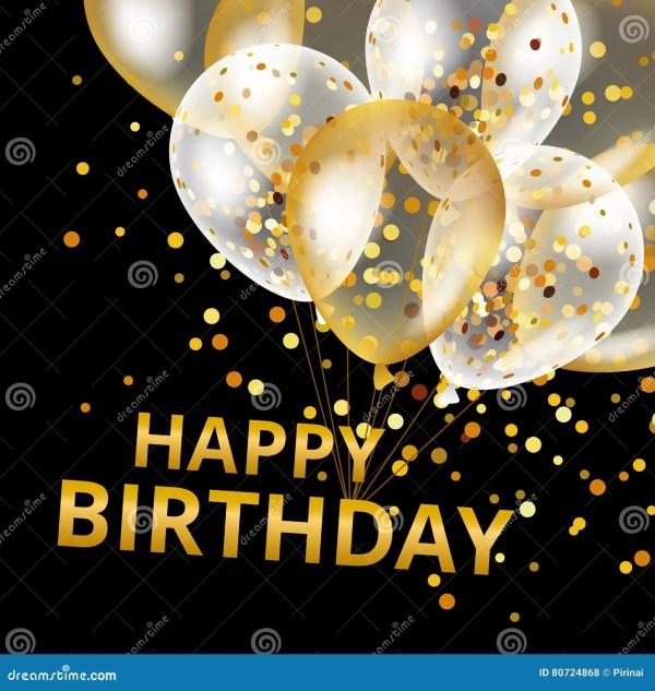 balloons happy birthday stock vector