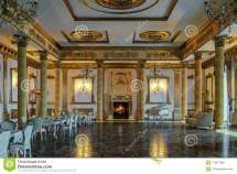 Ballroom And Restaurant In Classic Style. 3d Render