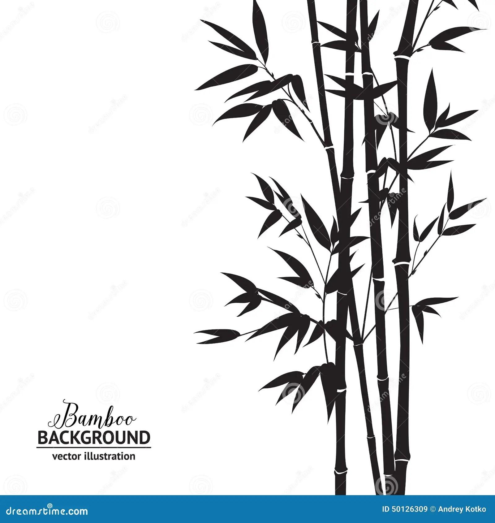 Bamboo Bush Stock Vector Image Of Bird Flyer Design