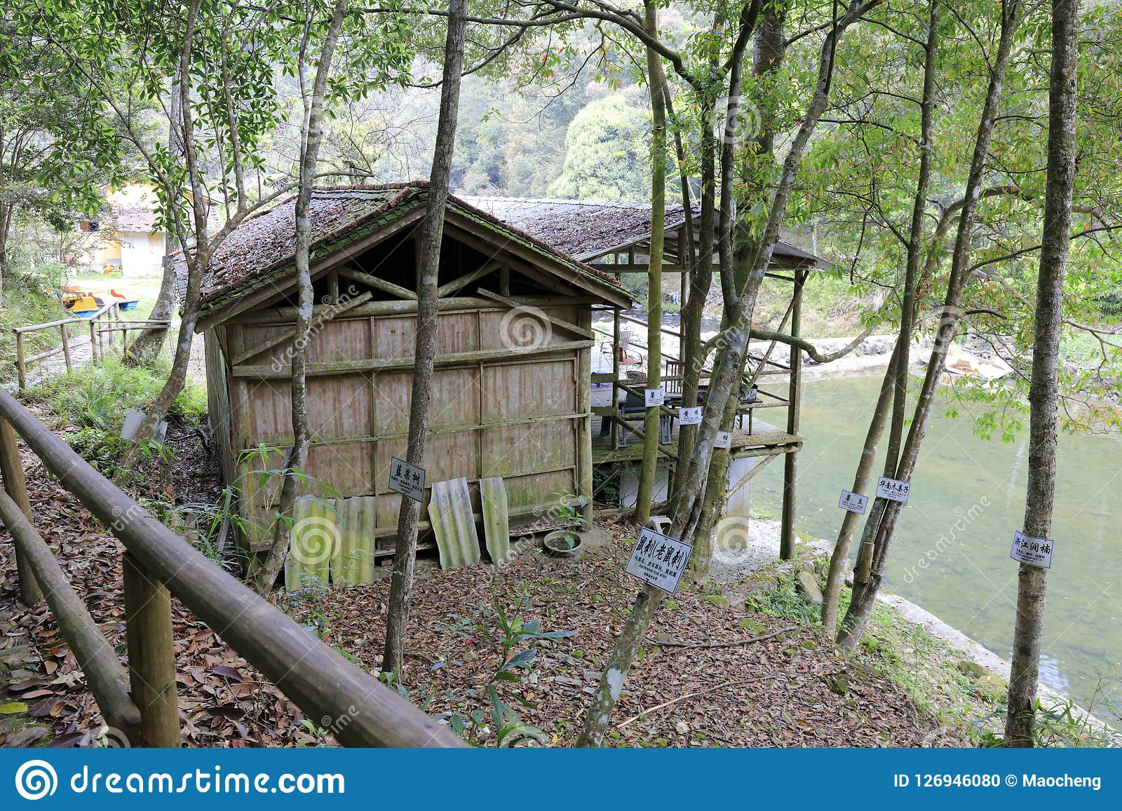 The Bamboo House By River Adobe Rgb Stock Photo Image Of