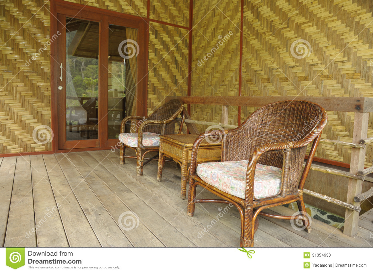 where to buy wicker chairs concrete rebar bamboo and chair living room stock photo image