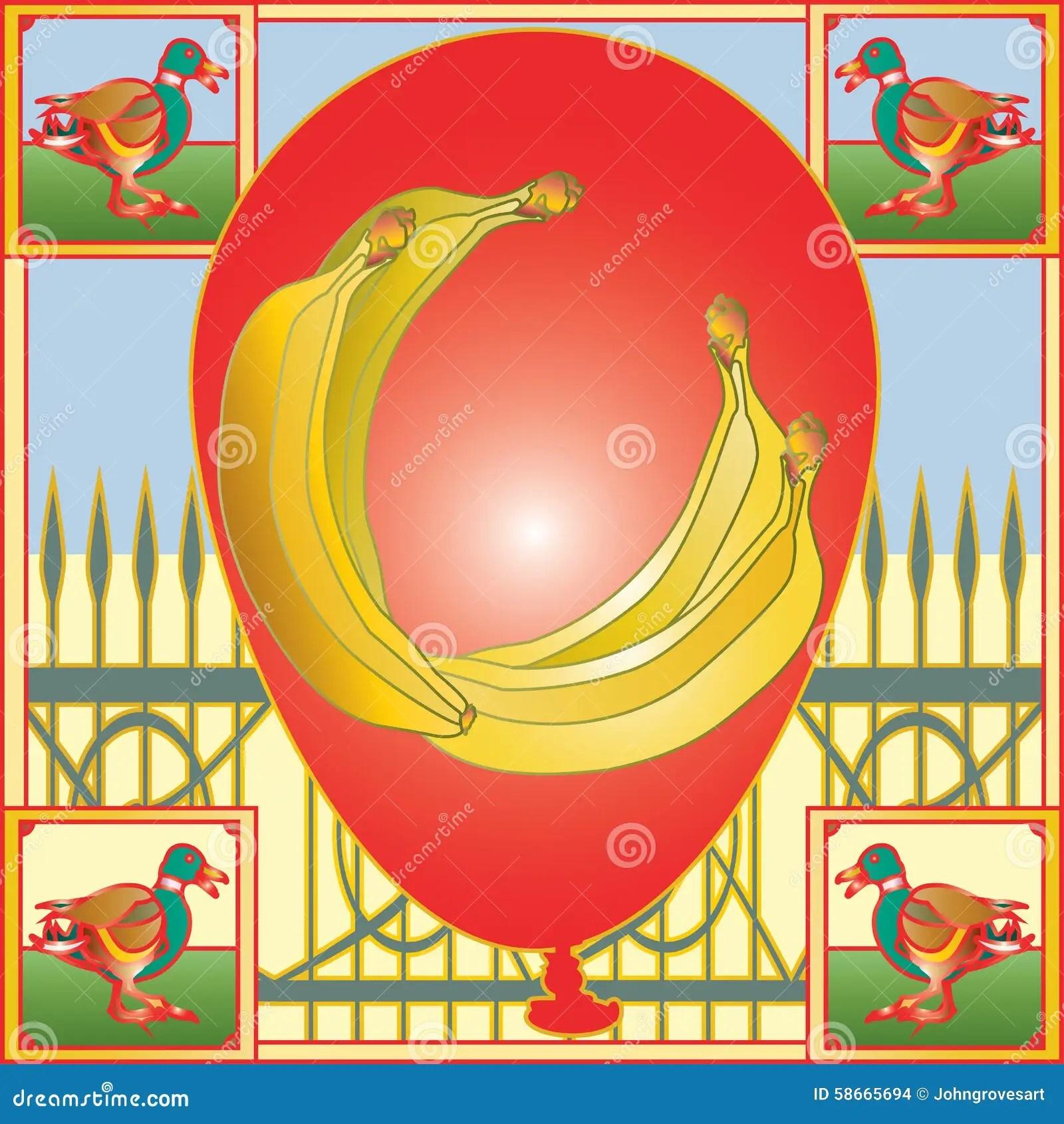 Banana Balloon Stock Illustration