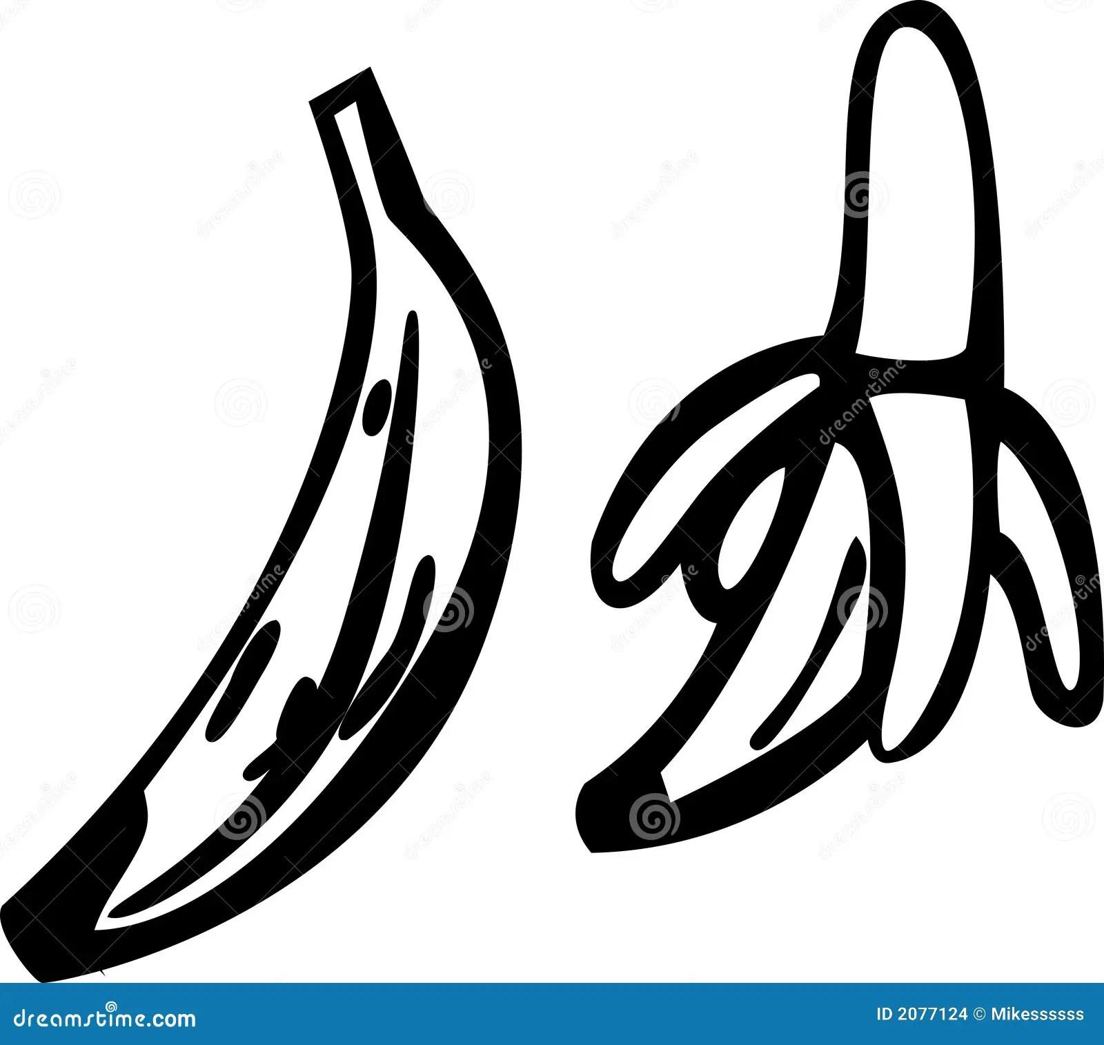 Bananas Vector Illustration Stock Vector