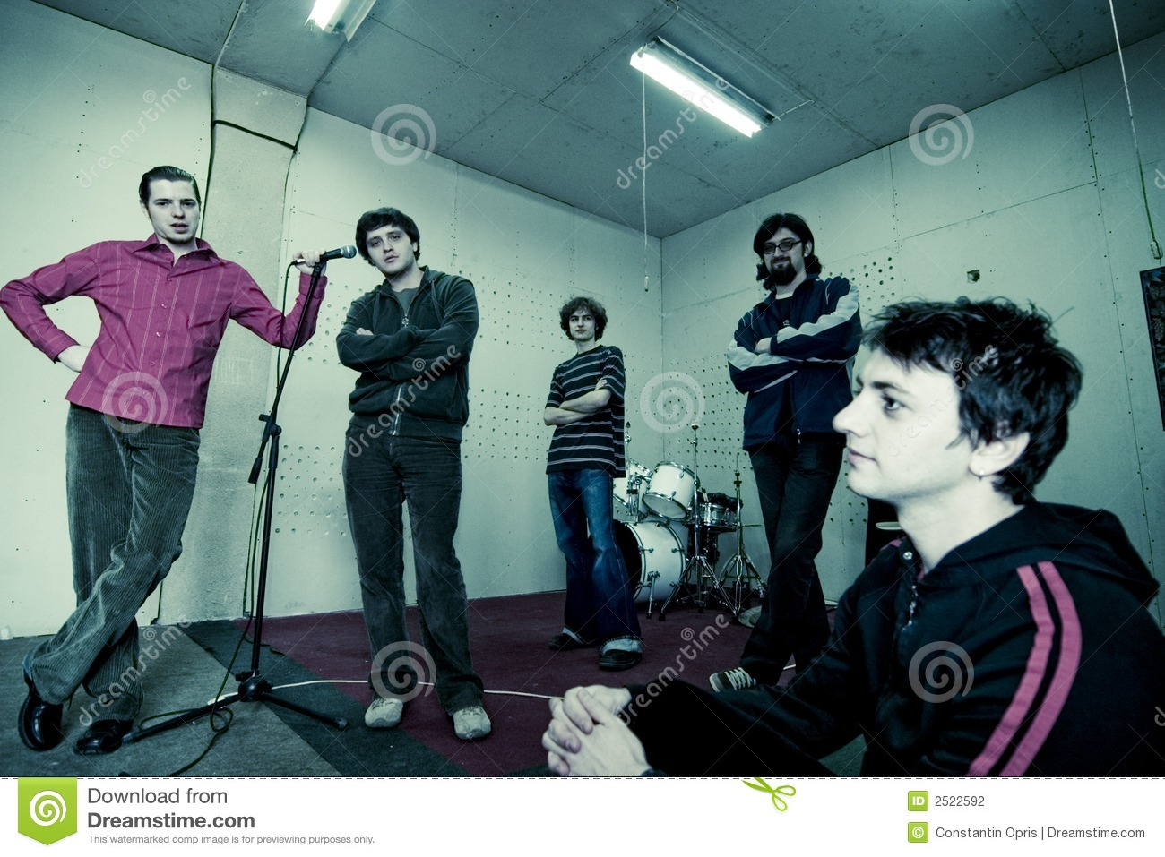 Band Studio Portrait Stock Photography  Image 2522592