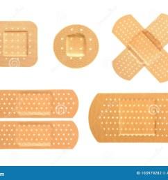 bandaid set on isolate background  [ 1300 x 957 Pixel ]