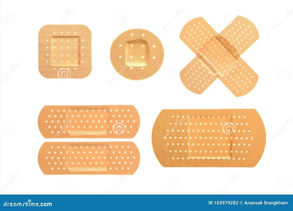 medium resolution of bandaid set on isolate background