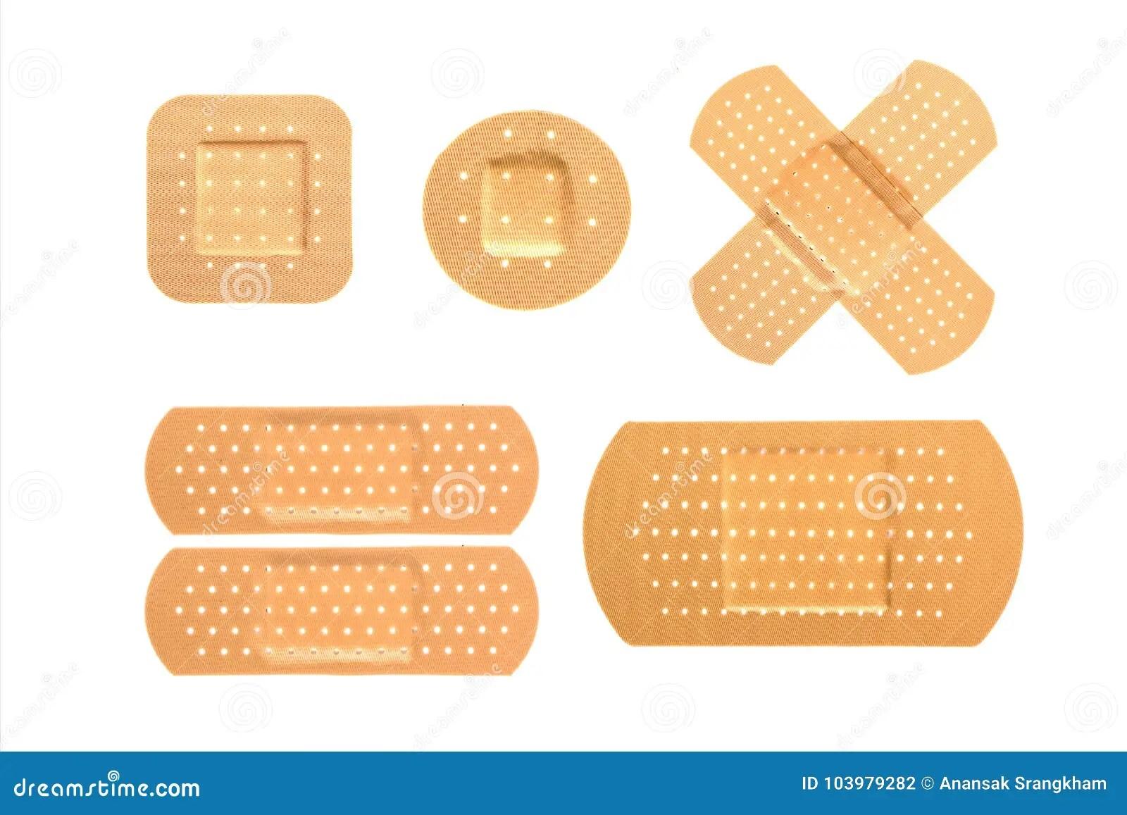 hight resolution of bandaid set on isolate background
