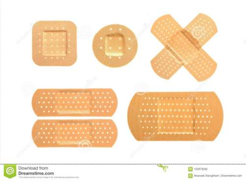 small resolution of bandaid set on isolate background