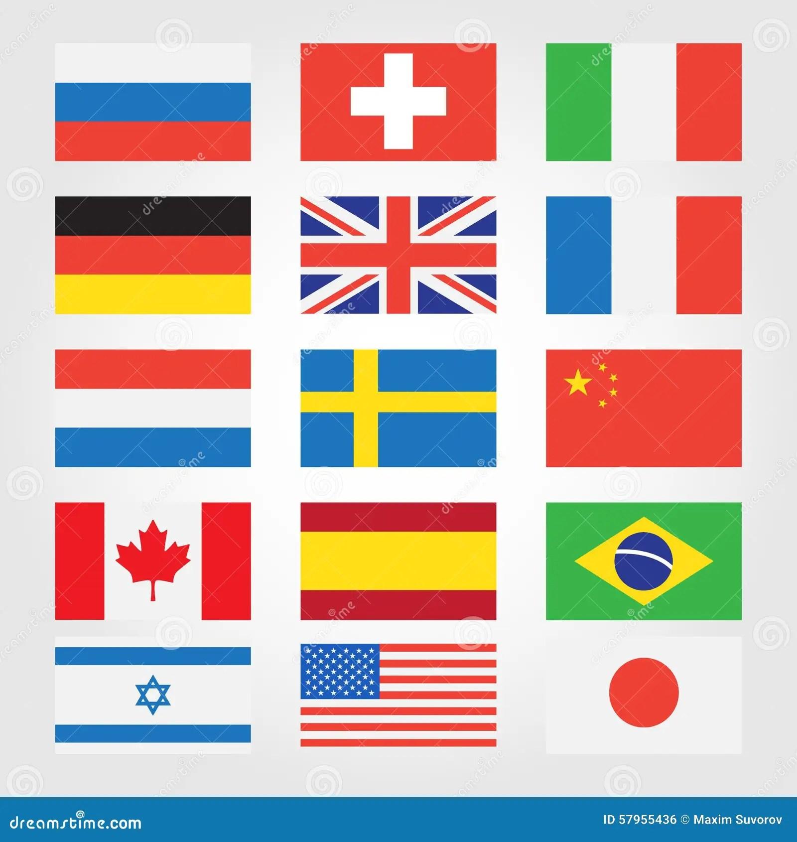 Ban Re Dei Paesi Intorno Al Mondo Illustrazione
