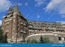 Banff Springs Hotel In Canadian Rockies Editorial