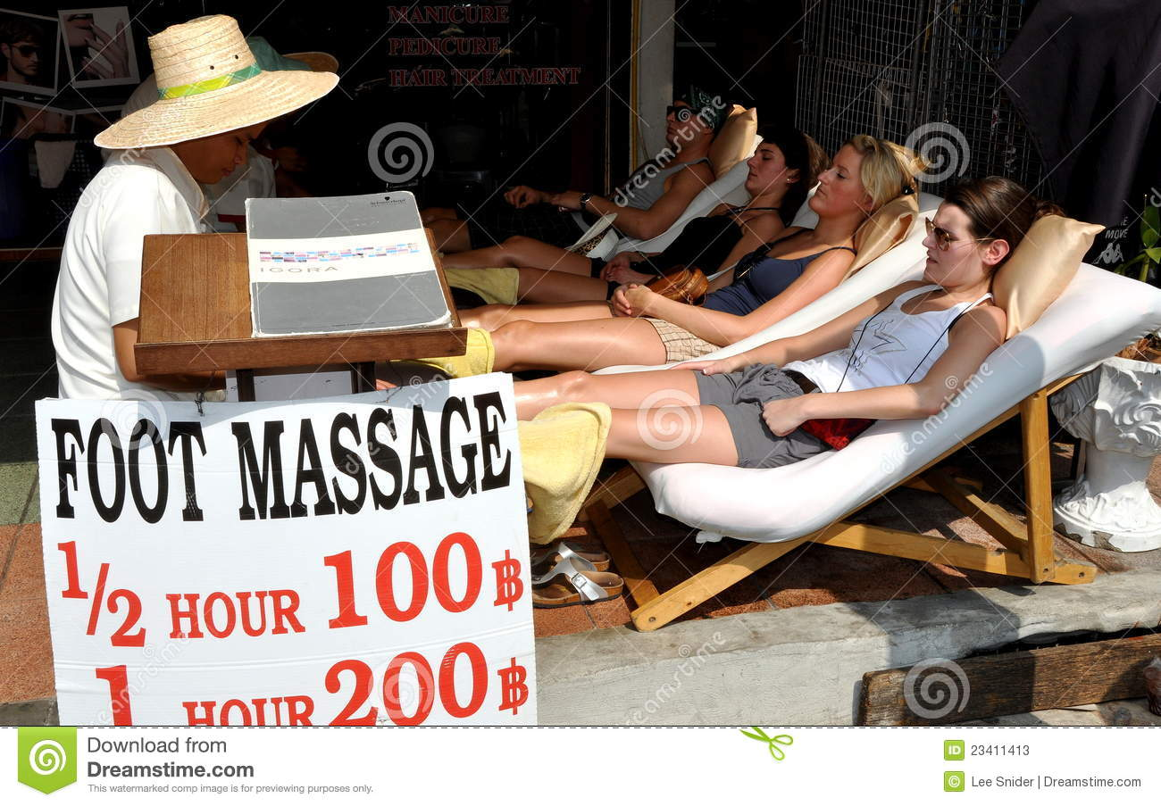 Bangkok Thailand Foot Massage Spa Editorial Stock Photo