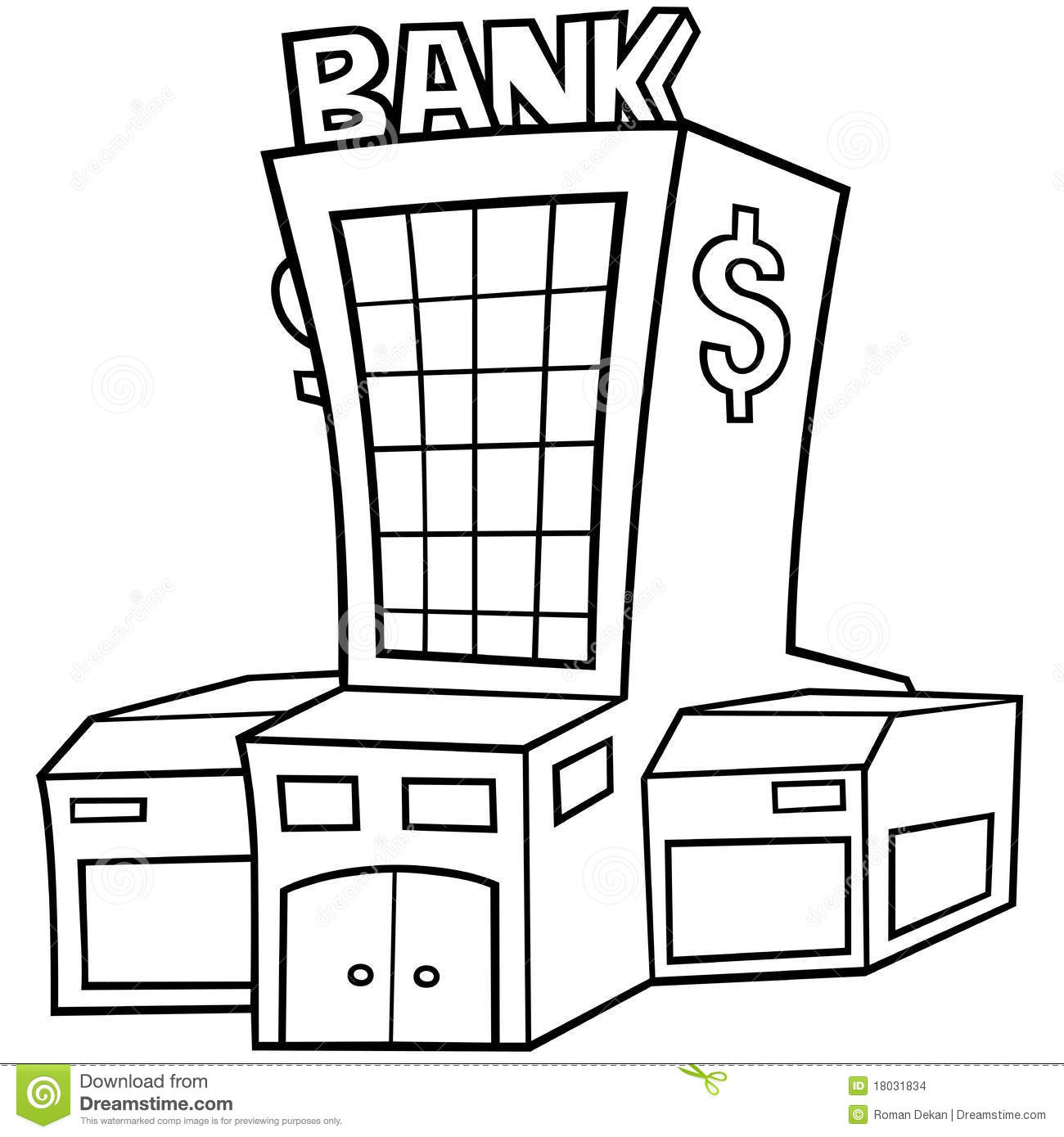 Bank stock vector. Illustration of finance, architecture