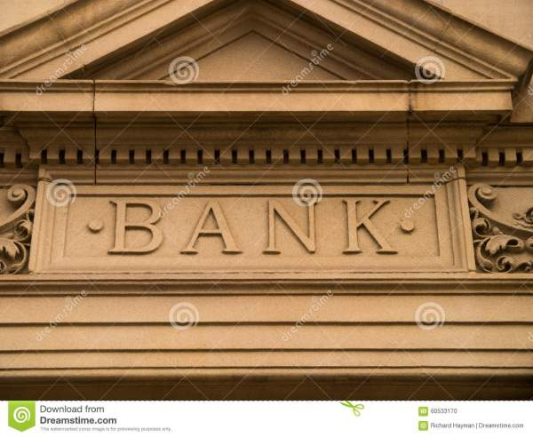 Bank Sign Stock - 60533170