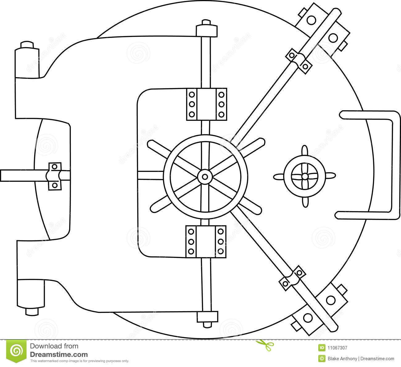Bank Vault Black White Royalty Free Stock Photography