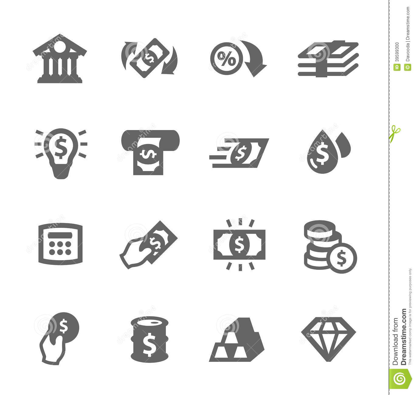 Banking Icons Stock Vector