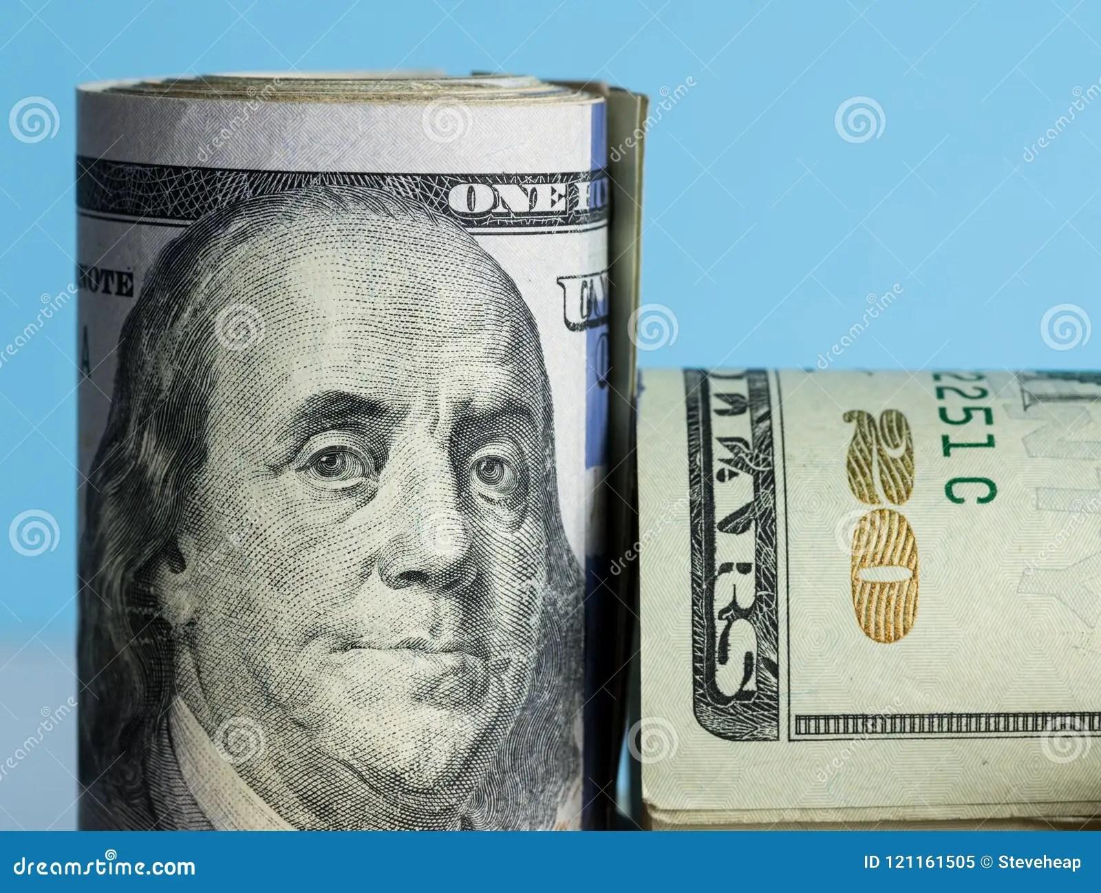 Close Macro Of Benjamin Franklin On Us 100 Dollar Note