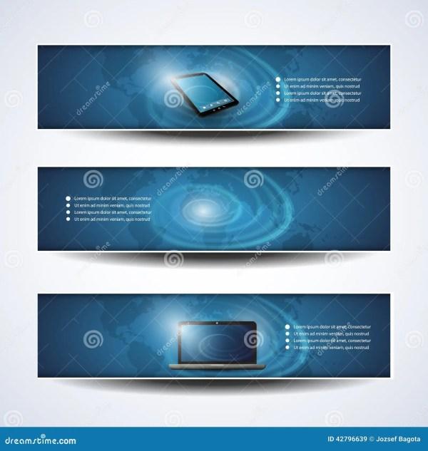 Banner Header Design Cloud Computing Network Stock
