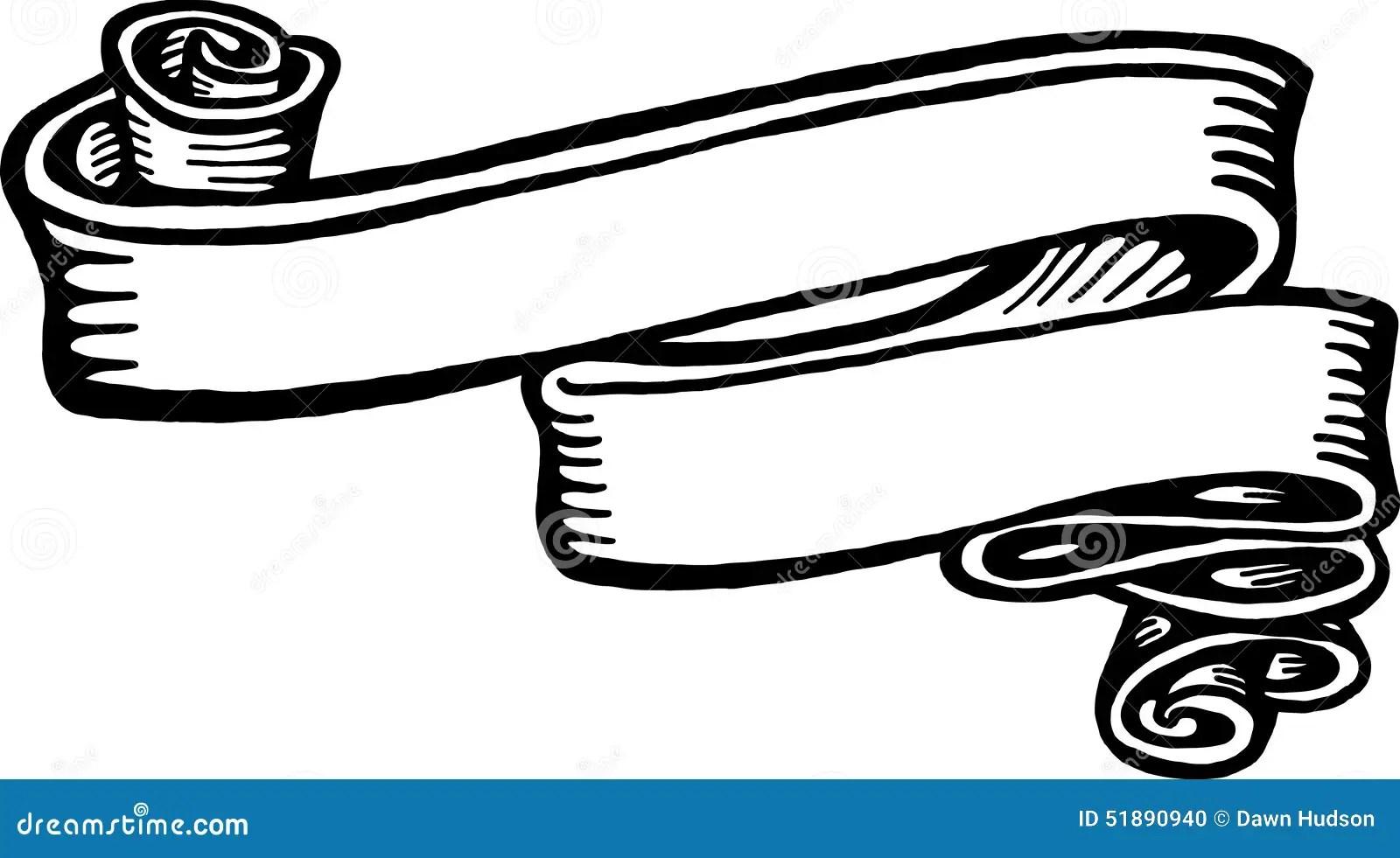 Banner Ribbon Stock Illustration