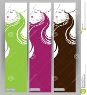 banners with stylish of beautiful