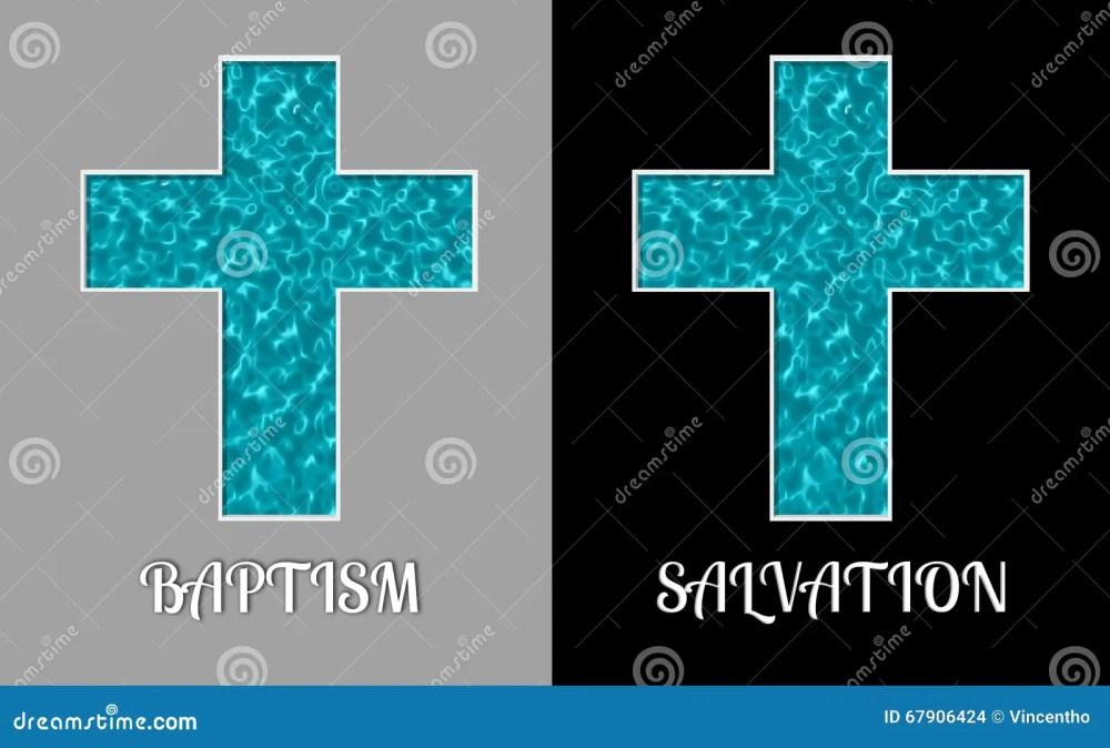 medium resolution of baptism salvation cross holy water pool illustration