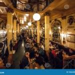 Bar Visitors Having Dinner And Drinks Inside Old Style Restaurant With Vintage Furniture Editorial Stock Image Image Of Drink Belgian 183644004