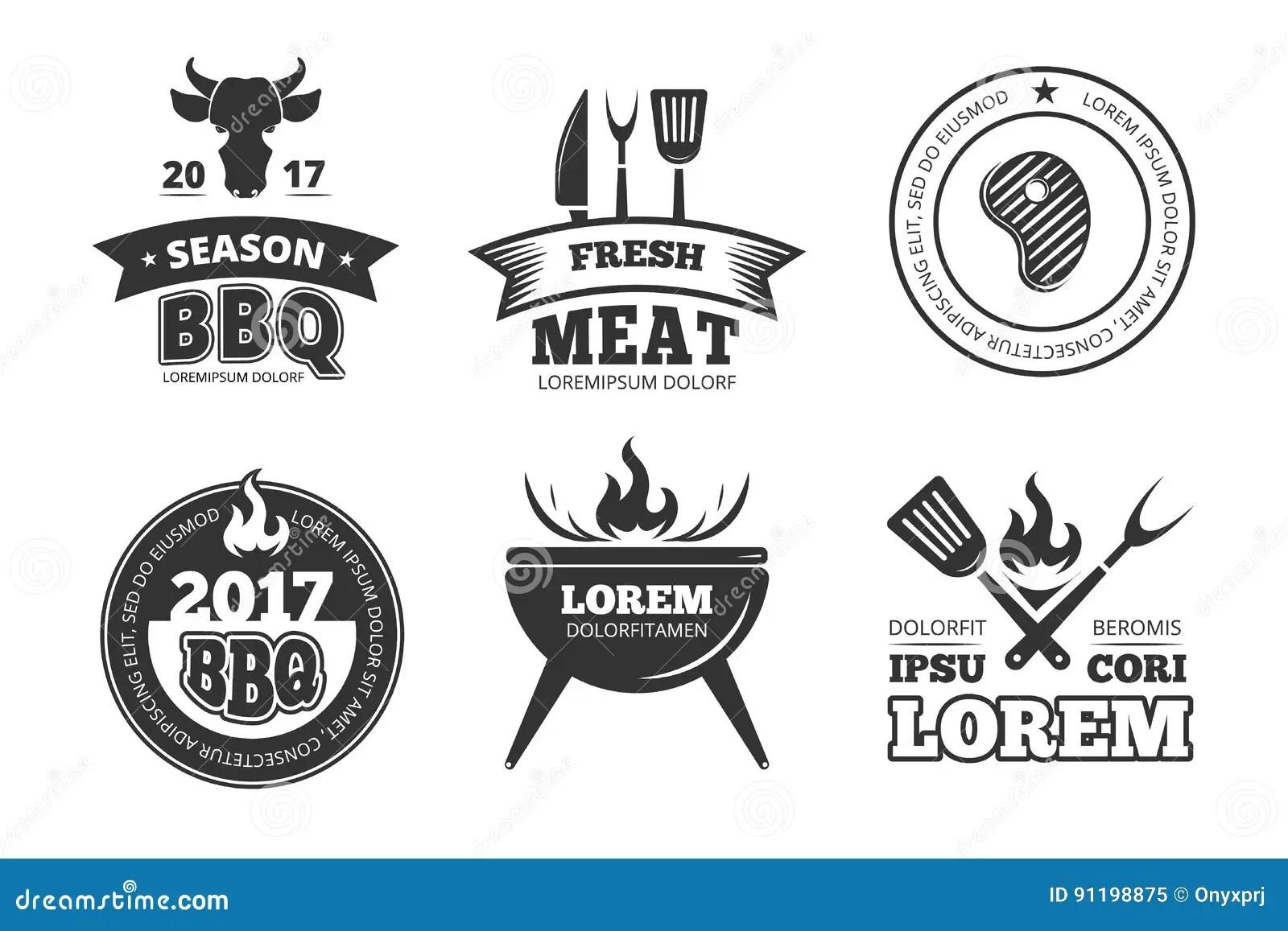 Grill Steak Restaurant Logo Vector Vector Illustration