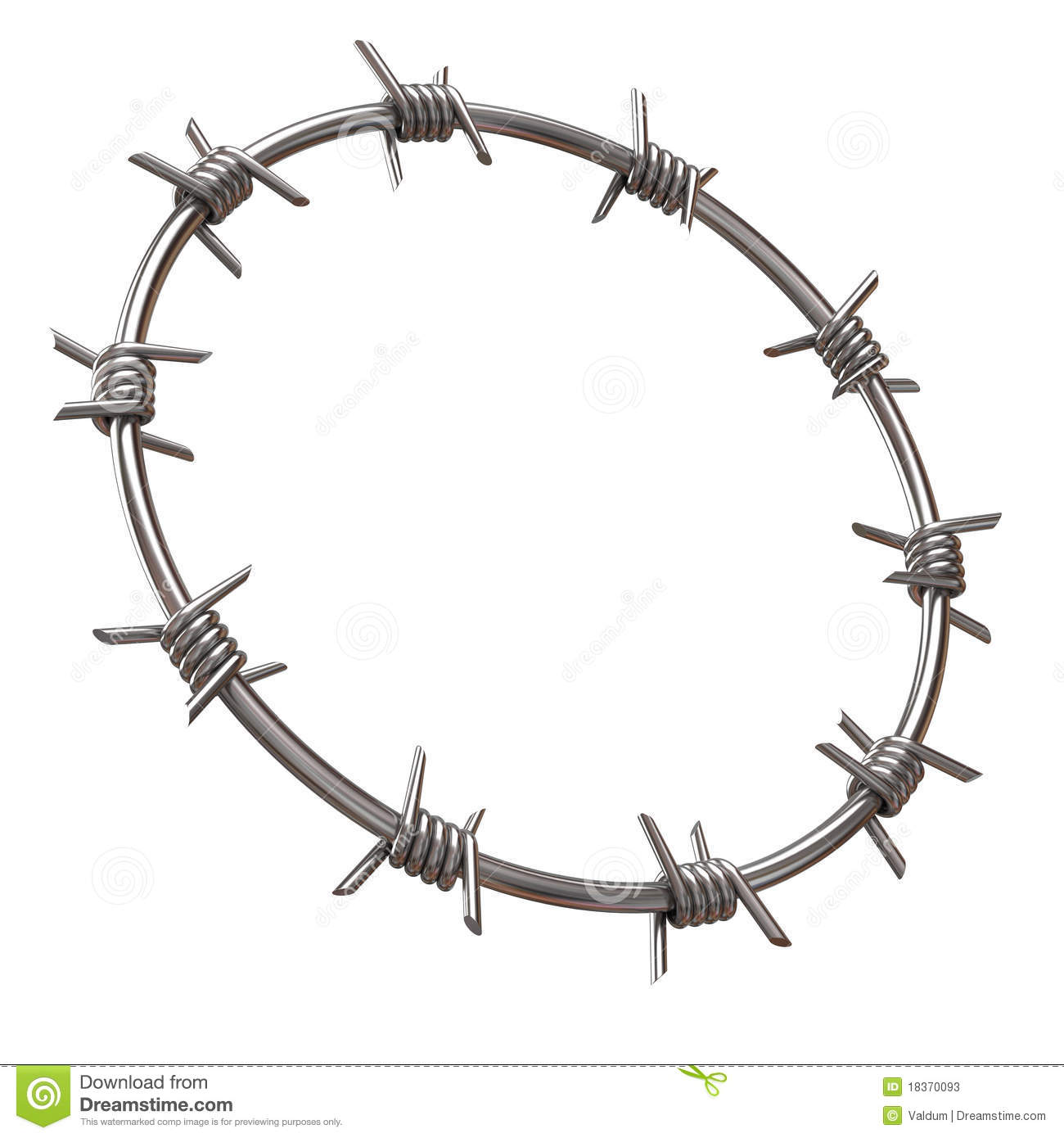 Barbed Wire Circle Stock Photos