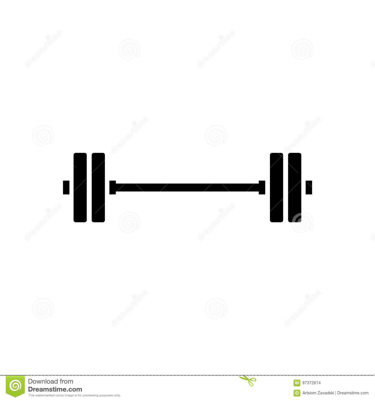 barbell vector icon stock