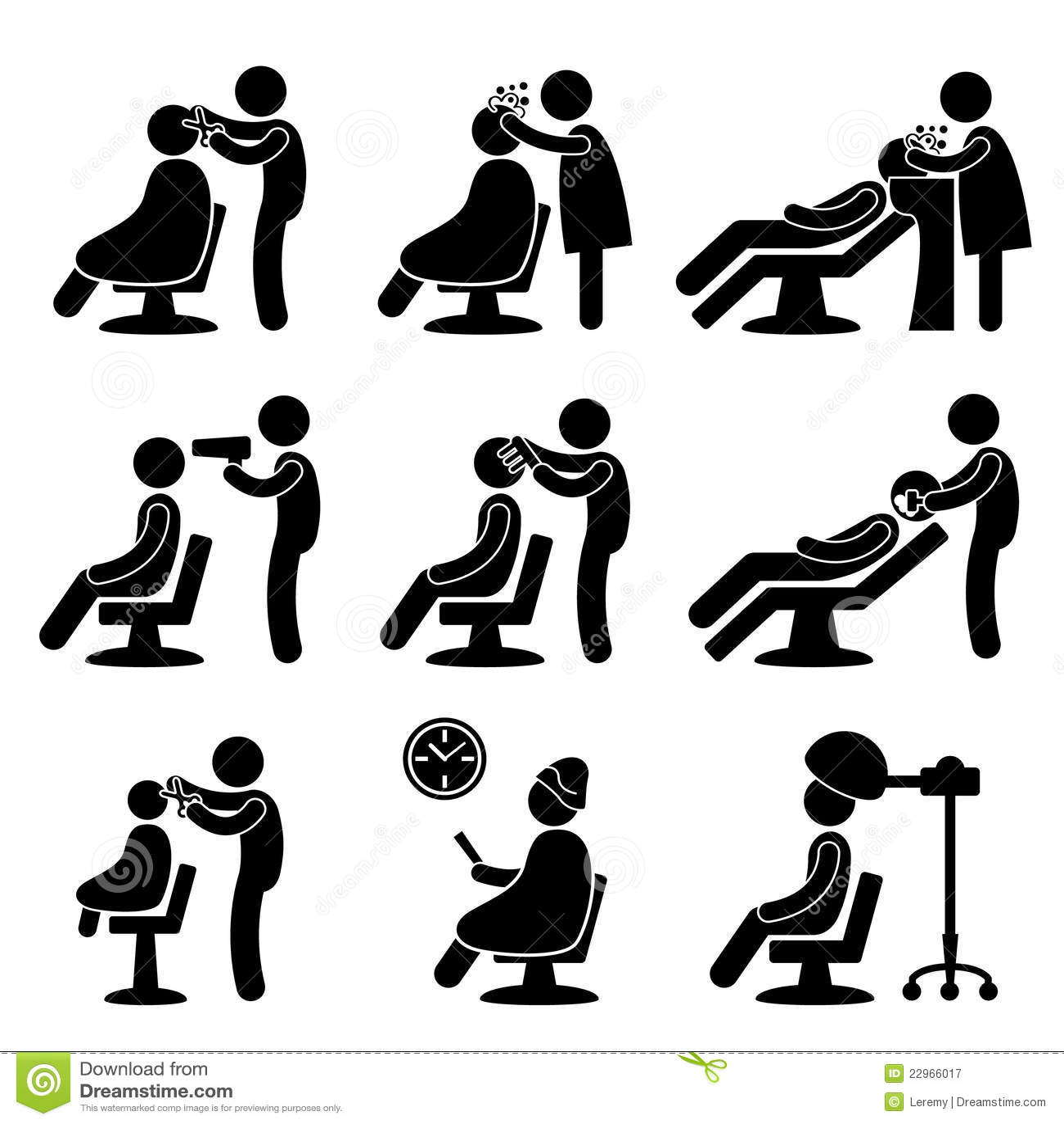 Barber Hair Salon Hairdresser Icon Stock Vector